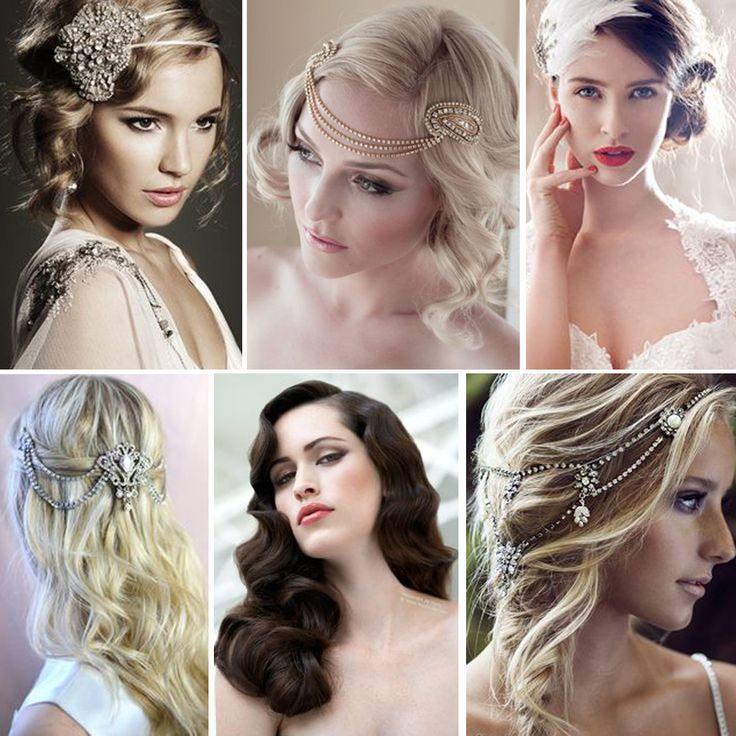Size ilham vereceğine inandığımız vintage gelin saç ve makyaj önerileri..