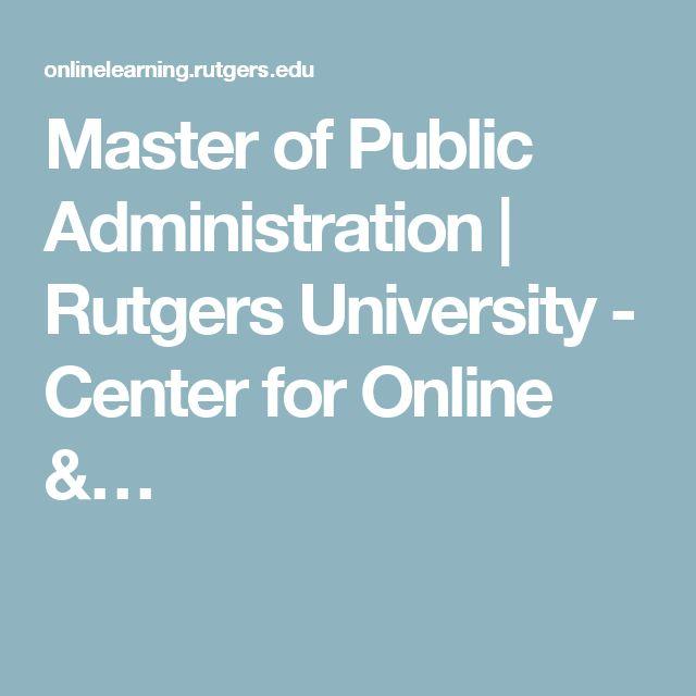 Master Of Public Administration | Rutgers University   Center For Online U0026u2026