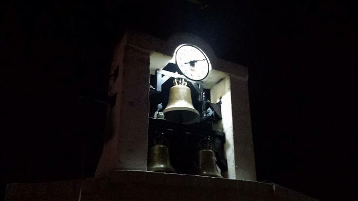 Night bells with clock