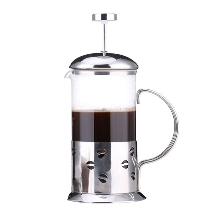 French Press Coffee & Tea Maker  12Oz Best Coffee Press Pot with Stainless Steel Double Glass