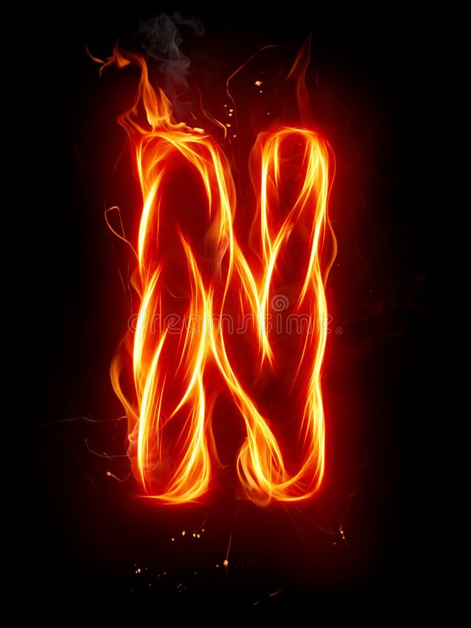 Fire Letter N A Series Of Fiery Letters And Numbers Ad Series Letter Fire Numb Poster Background Design Cool Pictures For Wallpaper Picture Letters