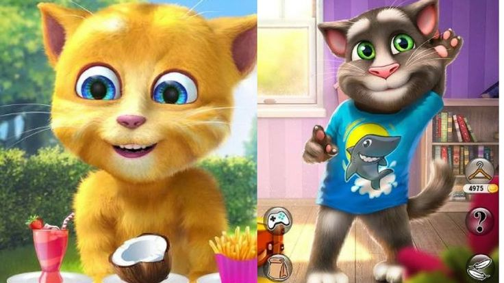 My Talking Tom 2 vs Talking Ginger 2 Android Gameplay for Kids