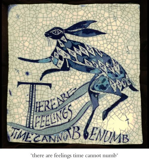 Poetry Tiles by Iris Milward | There are feelings that time cannot benumb.