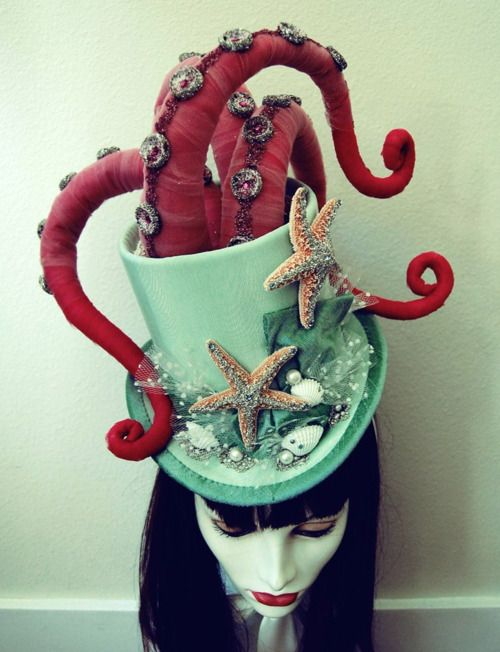 WOW! Custom Octopus Tentacle Victorian Masquerade Top Hat. I absolutely NEED this in my life, NOW!!
