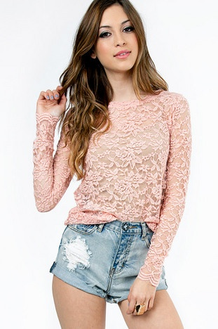 Lady in Lace Top $32 at www.tobi.com