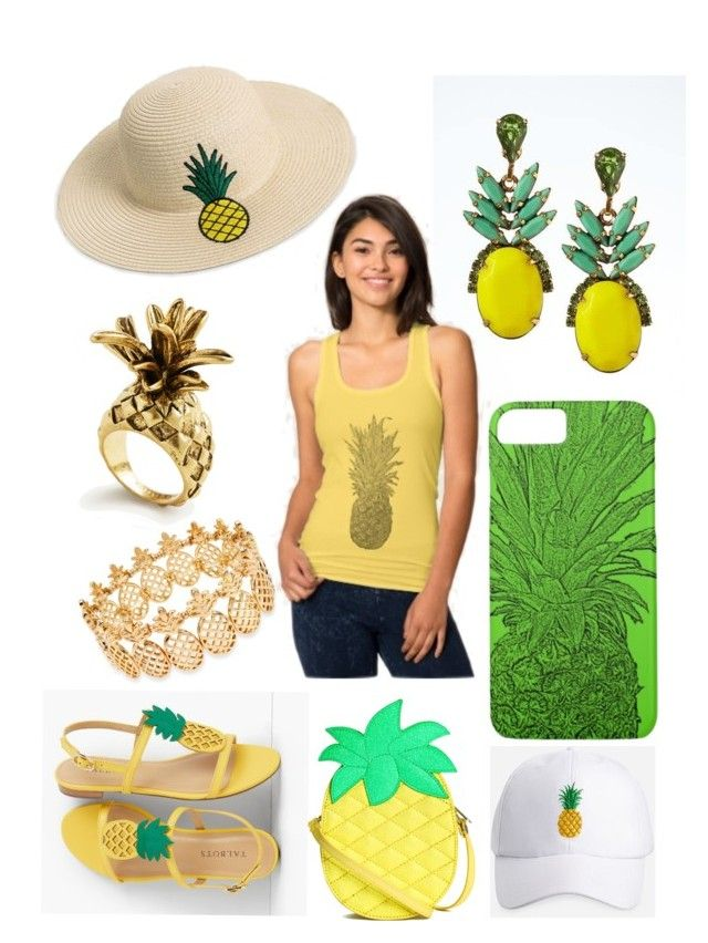 """pineapple"" by keki78 on Polyvore featuring INC International Concepts, Talbots, Banana Republic, Ashley Stewart, Ann Taylor and pineapple"