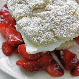 Alice Waters' Strawberry Shortcake with Cream Biscuits. Hello, Lover.