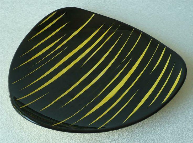 Brazil svart och gul randigt retro fat på Tradera.