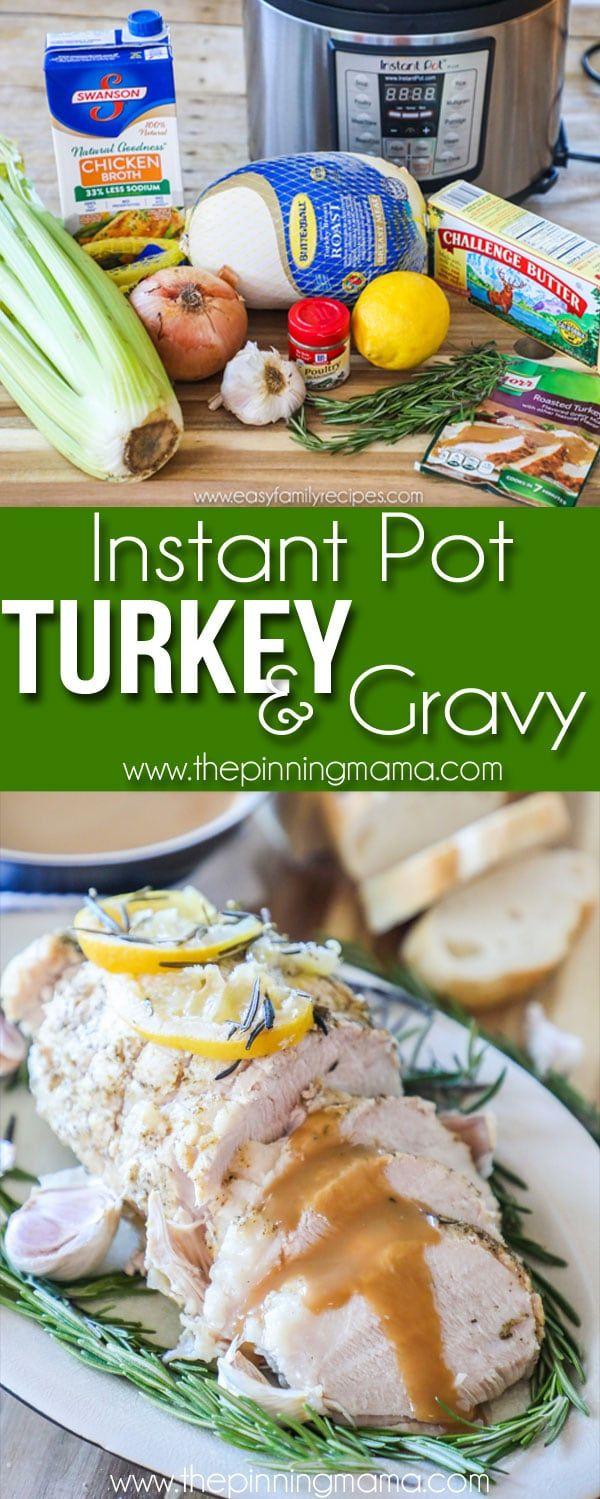 Instant Pot Turkey & Gravy