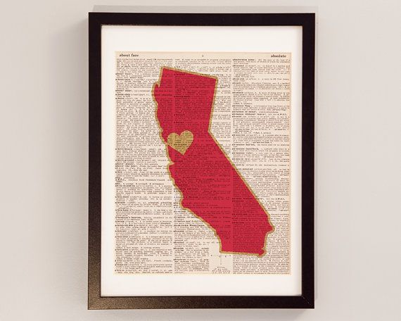 San Francisco 49ers Dictionary Art Print - California Art - Print on Vintage Dictionary Paper - SF Forty Niners Football Art - Bay Area on Etsy, $10.00