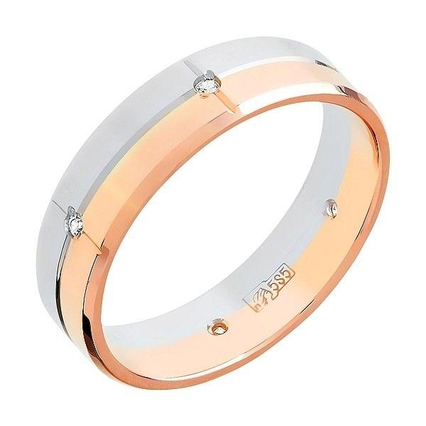 Кольцо обручальное с фианитом 5мм mg_96480