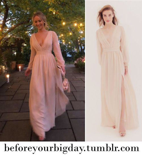 8728afd44f035 Jennifer Lawrence's engagement party dress in 2019   Eloping ...