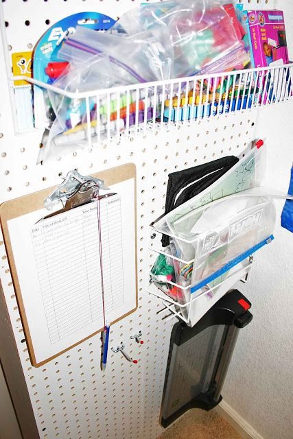 home school room organization ideas