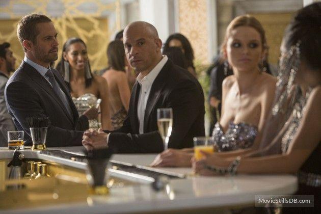 Furious 7 - Publicity still of Vin Diesel & Paul Walke