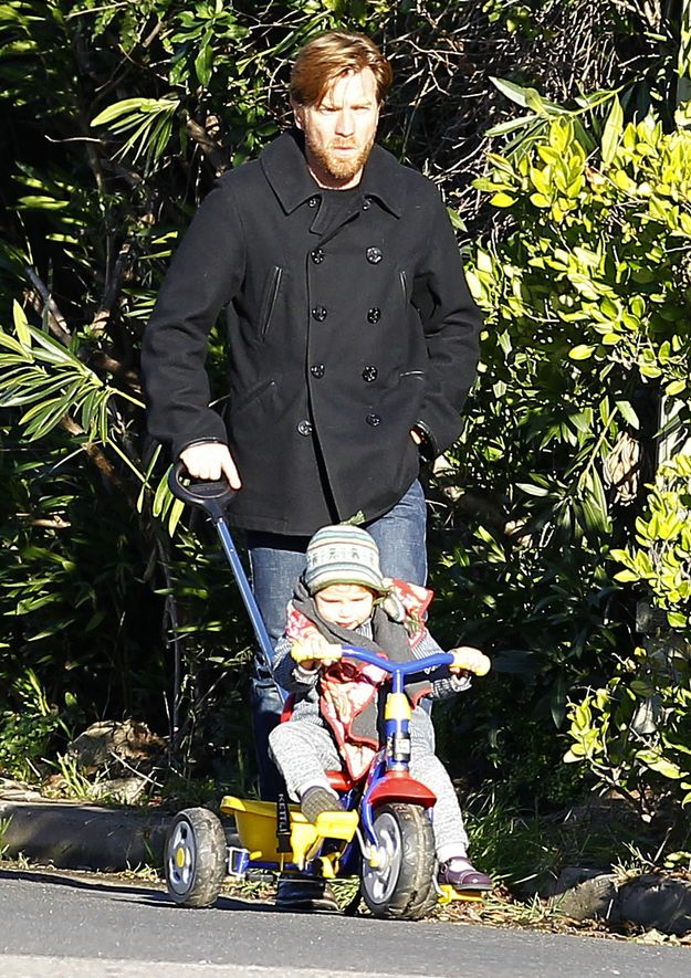Ewan McGregor Takes His Baby Anouk For A Walk
