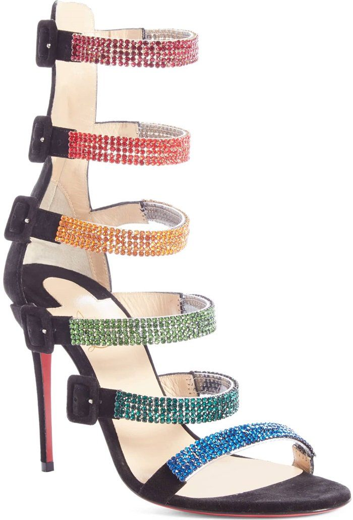 56824a57ff8 Christian Louboutin's Raynibo sandals are crafted in Italy of black ...