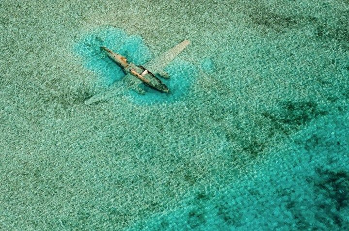 10 - Crashed aircraft near Norman's Cay, Exumas, Bahamas