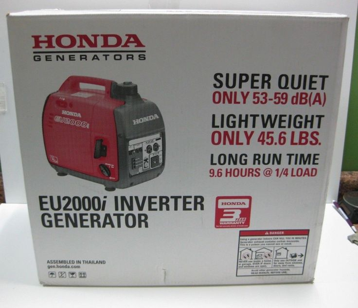 NEW Honda EU2000i 2000-Watt Super Quiet Portable Inverter Generator