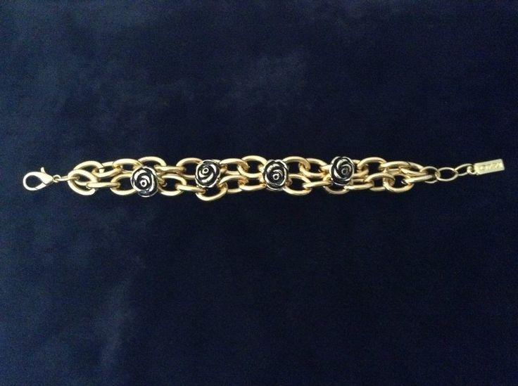 Ozzi Jewellery:Amazing golden plated bracelet with print  Price:20e #Jewelry #OZZIjewellery