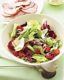 The dressing for this easy-to-assemble salad can be made up to three days in advance.Easter Dinner, Green Salad, Easter Menu, Easy To Assembly Salad, Easter Lunches, Tangy Vinaigrette, Healthy Food, Easter Brunches, Spring Salad