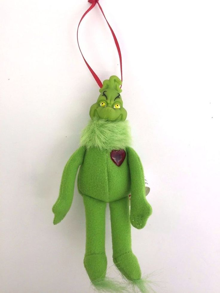 wendy u0026 39 s 2002 dr seuss the grinch with red heart plush christmas ornament 5in  wendys