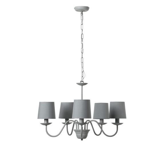 Buy Heart of House Aster 5 Light Chandelier Ceiling Light - Grey at Argos.co.uk, visit Argos.co.uk to shop online for Ceiling and wall lights, Lighting, Home and garden