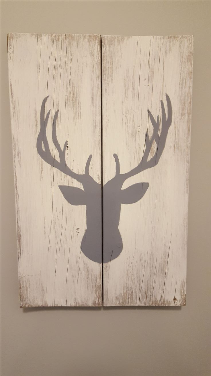 DIY Home Accessories, Deer Head Silhouette, Scrap Wood, Rustic Home