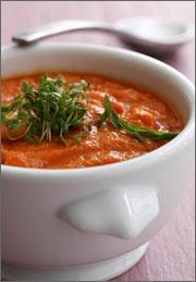 Sød kartoffelsuppe med grøntsager - Gratis Opskrift