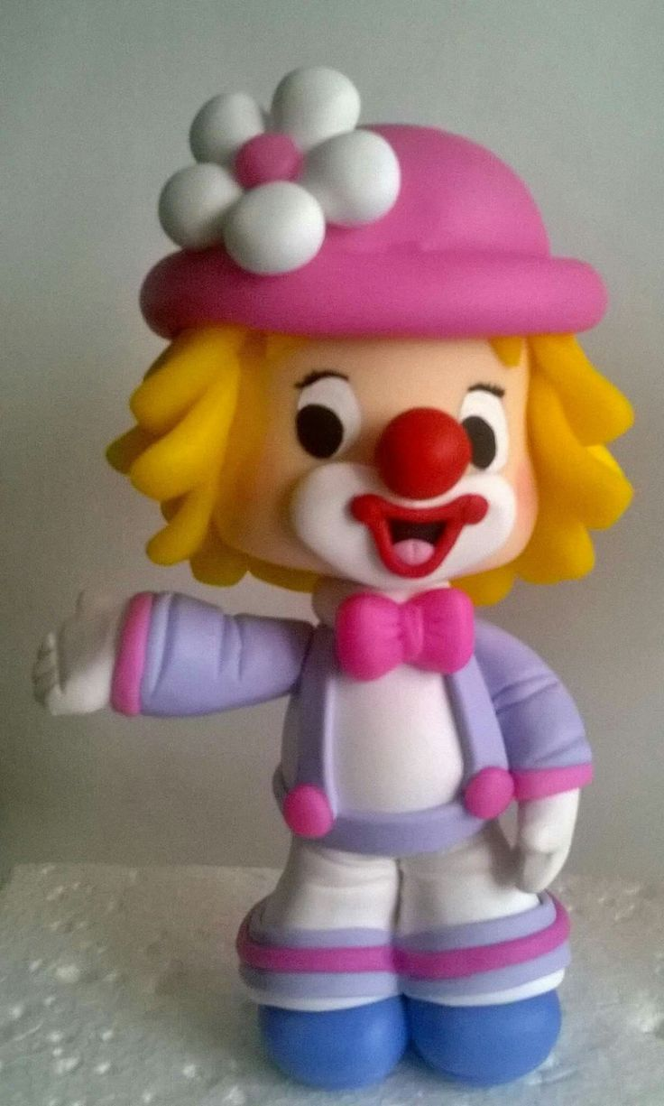 Clown Figure (Clay, Fondant, ?)
