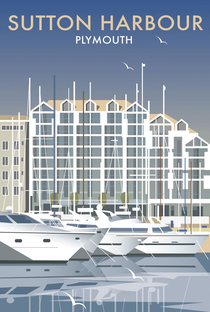 Sutton Harbour (DT10) Beach and Coastal Print http://www.thewhistlefish.com/product/dt10f-sutton-harbour-framed-art-print-by-dave-thompson #sutton #plymouth