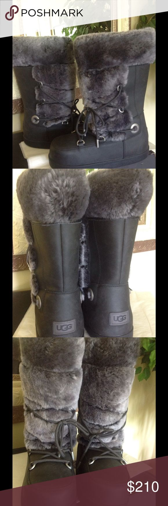 Details about women luxury diamond fashion snow boots rabbit fur boots - Ugg Australia Moon Boots Nwt