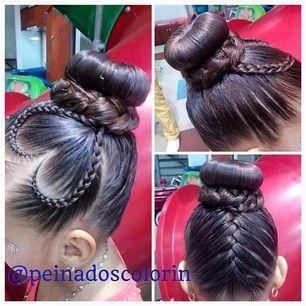 peinadoscolorin's Instagram photos | Pinsta.me - Explore All Instagram Onlinebraid bun