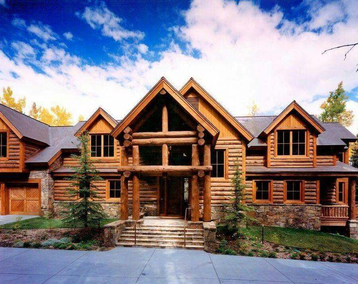 534 best log homes images on pinterest | log cabins, dream houses