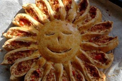 Sonnen-Pizza mit Hackfleisch 1