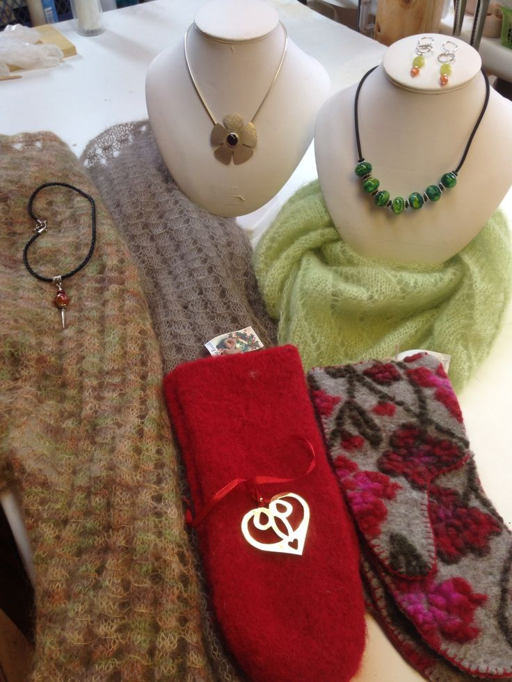 Knitting and jewelry