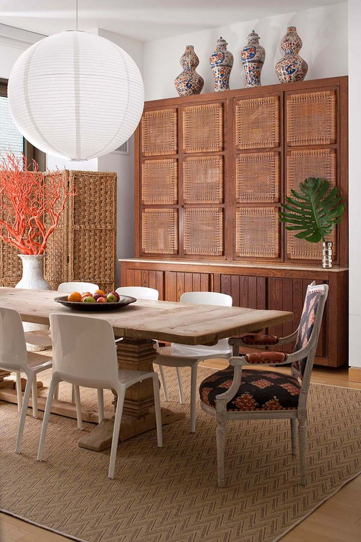 Woven Cabinet Fronts Dining Room Interior Design By Nick Olsen