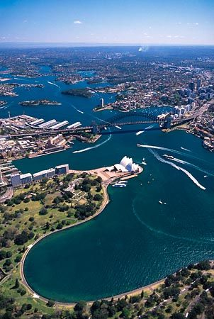 Sydney Opera House & Sydney Harbour Bridge, Australia - aerial - Explore the World with Travel Nerd Nici, one Country at a Time. http://TravelNerdNici.com