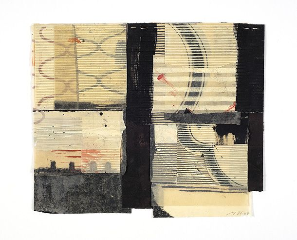 Mixed media on stitched paper Matthew Harris