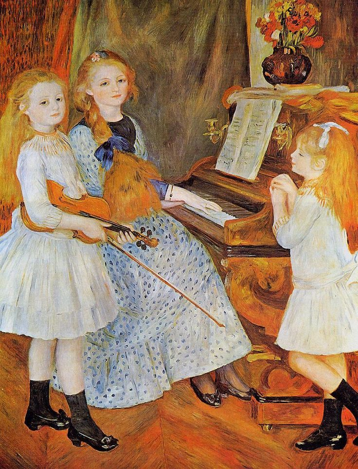The Athenaeum - RENOIR, Pierre-Auguste French Impressionist (1841-1919)_The Daughters of Catulle Mendes - 1888