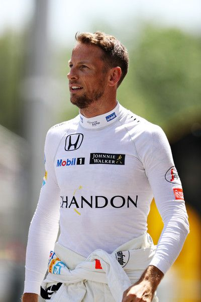 Jenson Button Photos - Jenson Button of Great Britain and McLaren Honda in the Pitlane during qualifying for the Spanish Formula One Grand Prix at Circuit de Catalunya on May 14, 2016 in Montmelo, Spain. - Spanish F1 Grand Prix - Qualifying