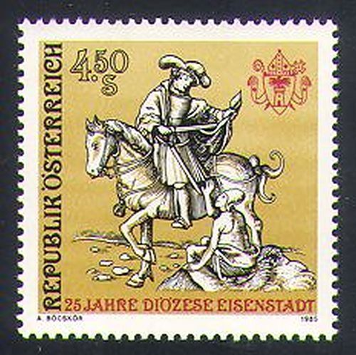 Austria 1985 Saint/St Martin/Horse/Transport/Animals/Nature 1v (n34434)