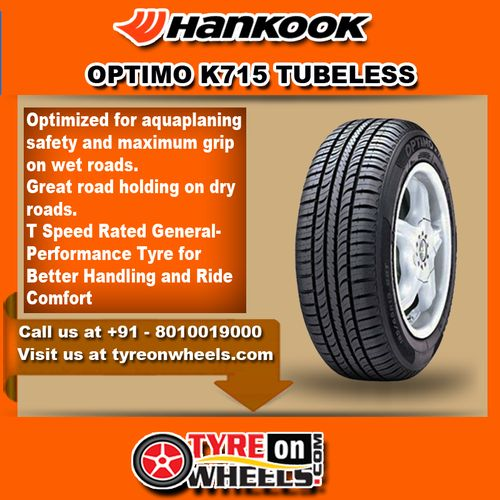 Buy Hankook Car Tyres Online of Optimo K715 Tubeless Tyres at Guaranteed Low Prices and also get Mobile Tyres Fitting Services at your home now buy at http://www.tyreonwheels.com/tyres/Hankook/OPTIMO-K715/147