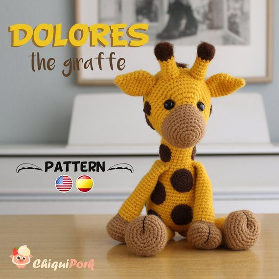 Hearty Giraffe amigurumi pattern - Amigurumi Today | 570x570