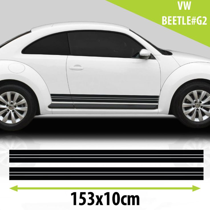 Side Cars Racing Stripes Stickers Decals For VW Beetle Tuning Auto Graphics  #WYC