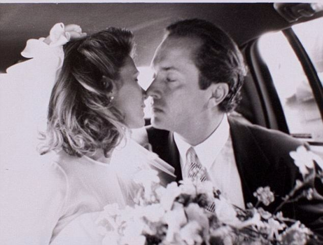 Anthony Radziwill marries Carole Radziwill in a ceremony in East East Hampton, NY. in 1994. He tragically died of cancer five years later. His mother was Lee Radziwill, the four times married sister of Jackie Kennedy. His father was Lee's second husband, Prince Stanislas Radziwill, whom she divorced. The couple was best friends with JFK, Jr and Carolyn Bessette.