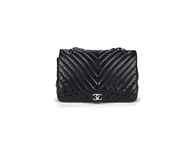 Chanel Chevron Jumbo Single Flap