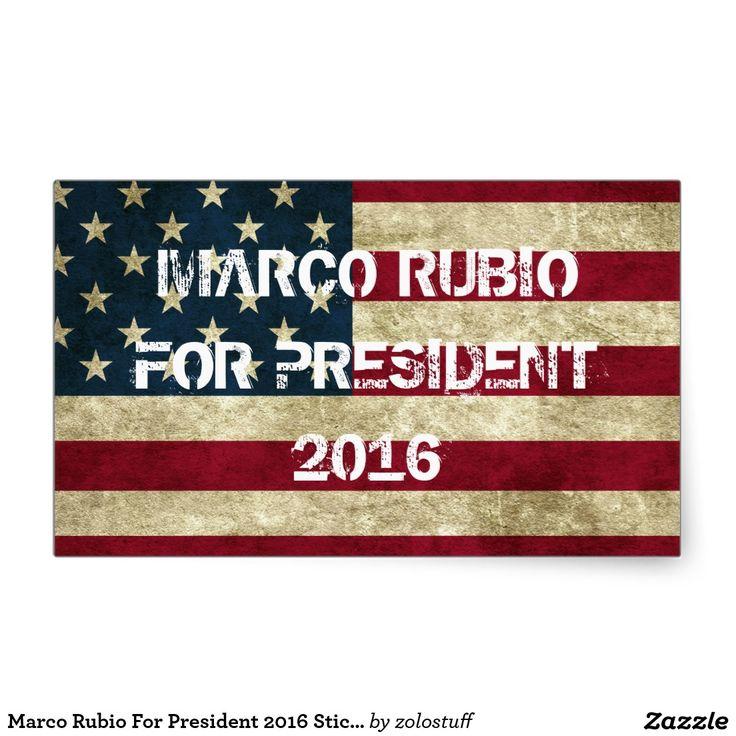 Marco Rubio For President 2016 Sticker