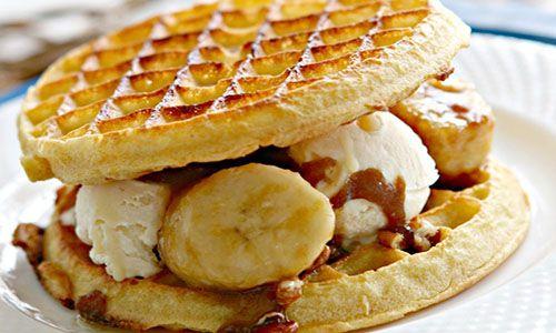 Waffles for dessert yes please celebrate waffle week with waffle