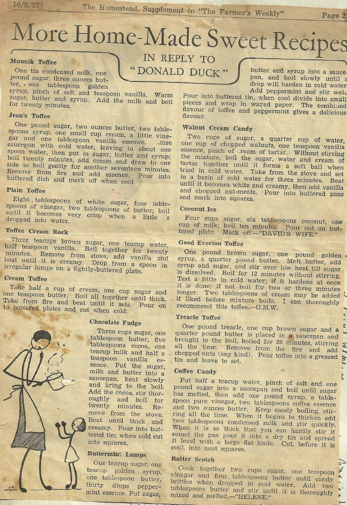 This vintage recipe page is so cool!