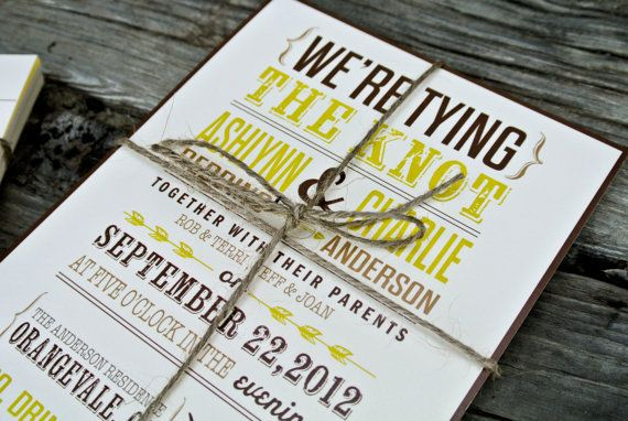 Awesome rustic wedding invitations :)
